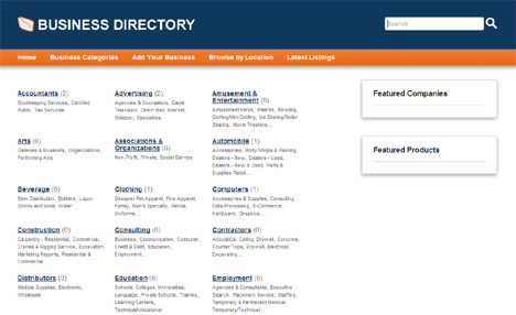 Online demo of php business directory php mysql software for online php directory script cheaphphosting Image collections